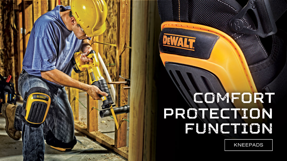 """Carpenter using Knee pads. """"Comfort, Protection, Function"""""""